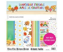 Craft Smith Lunchbox Friends 12x12 Inch Paper Pad (MSE6907)