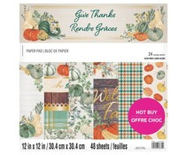 Craft Smith Give Thanks 12x12 Inch Paper Pad (MSE7219)
