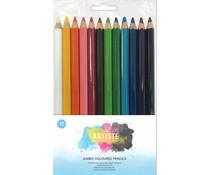 Docrafts Artiste Jumbo Coloured Pencils (12pcs) (DOA 856107)