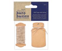 Papermania Bare Basics Gift Tags with String Mini Bottle (12pcs) (PMA 174327)