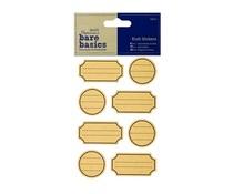 Papermania Bare Basics Kraft Stickers Labels (32pcs) (PMA 806204)