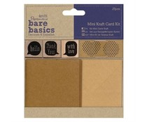 Papermania Bare Basics Mini Kraft Card Kit (27pcs) (PMA 174773)