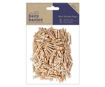 Papermania Bare Basics Mini Wooden Pegs (200pcs) (PMA 174626)