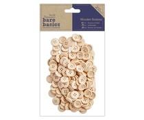 Papermania Bare Basics Wooden Buttons (200pcs) (PMA 174627)