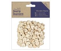Papermania Bare Basics Wooden Hearts (200pcs) (PMA 174628)