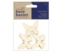 Papermania Bare Basics Wooden Shapes Butterfly (12pcs) (PMA 174514)