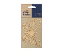 Papermania Bare Basics Wooden Shapes Butterfly (PMA 174606)