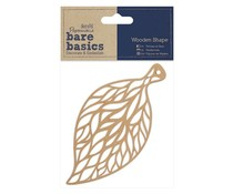 Papermania Bare Basics Wooden Shapes Filigree Leaf (PMA 174623)