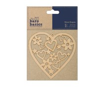 Papermania Bare Basics Wooden Shapes Heart (PMA 174609)