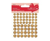 Papermania Shimmer Dome Stickers Gold (60pcs) (PMA 805904)