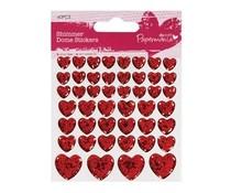 Papermania Shimmer Dome Stickers Hearts (46pcs) (PMA 351123)
