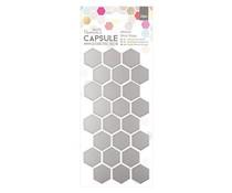 Papermania Capsule Geometric Neon Adhesive Mirror Shapes Hexagon (24pcs) (PMA 351701)