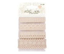 Papermania Vintage Notes Lace Borders (4pcs) (PMA 367401)