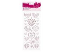 Papermania Glitter Dot Stickers Love Hearts (PMA 818205)