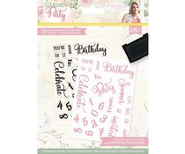 Crafter's Companion Garden Party A6 Clear Stamps Happy Summertime (S-GP-ST-HAPS)