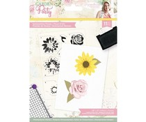 Crafter's Companion Garden Party A6 Clear Stamps Summertime Florals (S-GP-STP-SUMF)