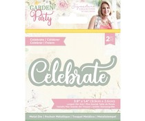 Crafter's Companion Garden Party Metal Die Celebrate (S-GP-MD-CELE)