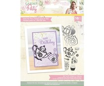 Crafter's Companion Garden Party Stamp & Die Time For Tea (S-GP-STD-TIMFT)