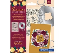 Crafter's Companion Chinoiserie Collection Stamp & Die Peony Wreath (NG-CHI-STD-PWRE)