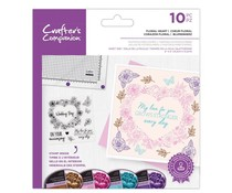 Crafter's Companion Floral Heart Clear Stamps (CC-STP-FHEA)
