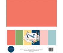 Carta Bella Craft & Create 12x12 Inch Coordinating Solids Paper Pack (CBCR137015)
