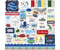 Echo Park Under Sea Adventures 12x12 Inch Element Sticker (USA245014)