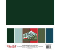 Echo Park Let's Go Camping 12x12 Inch Coordinating Solids Paper Pack (LGC246015)