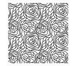 My Favorite Things Abstract Roses Background Rubber Stamp (BG-145)