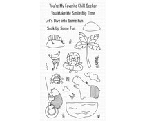 My Favorite Things Swimming Hole Friends Clear Stamps (CS-574)