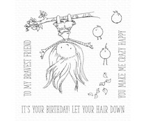 My Favorite Things Let Your Hair Down Clear Stamps (TI-002)