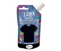 Aladine Izink Textile Noir Astrakan Fabric Paint (80ml) (80728)