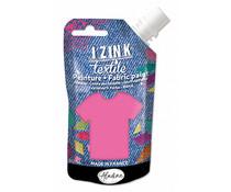 Aladine Izink Textile Rose Fluo Vinyl Fabric Paint (80ml) (80730)