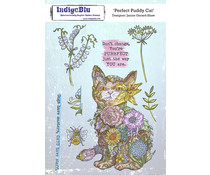 IndigoBlu Perfect Puddy Cat A5 Rubber Stamps (IND0801)