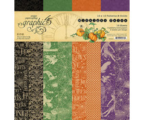 Graphic 45 Midnight Tales 12x12 Inch Patterns & Solids Paper Pad (4502284)