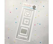 Time For Tea Postage Stamp Frame Slimline Dies (T4T/682/Pos/Sta)