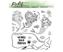 Picket Fence Studios A Fishy Lot 6x6 Inch Clear Stamps (OC-120)