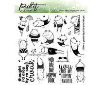 Picket Fence Studios Drop by to Say Croak 6x6 Inch Clear Stamps (A-154)