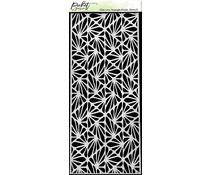 Picket Fence Studios Slim Line Triangle Peaks 4x10 Inch Stencils (SC-248)
