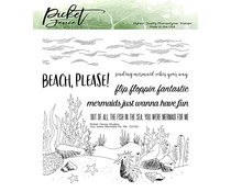 Picket Fence Studios You were Mermaid for Me 6x6 Inch Clear Stamps (OC-122)
