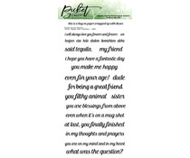 Picket Fence Studios Word Die Topper Subtitles 4x8 Inch Clear Stamps (S-188)