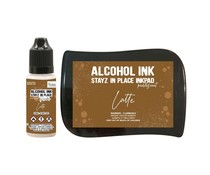 Couture Creations Stayz in Place Alcohol Ink Pearlescent Latte Pad+Reinker (CO728172)