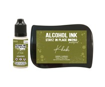 Couture Creations Stayz in Place Alcohol Ink Pearlescent Khaki Pad+Reinker (CO728173)