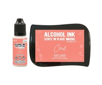 Couture Creations Stayz in Place Alcohol Ink Pearlescent Coral Pad+Reinker (CO728175)