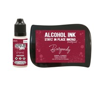 Couture Creations Stayz in Place Alcohol Ink Pearlescent Burgundy Pad+Reinker (CO728174)