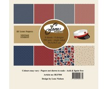By Lene Vintage Student 12x12 Inch Paper Pack (BLP304)