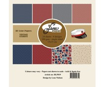 By Lene Vintage Student 6x6 Inch Paper Pack (BLP019)