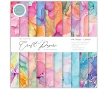 Craft Consortium Essential Craft Papers 6x6 Inch Paper Pad Ink Drops Candy (CCEPAD016B)