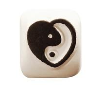 Ladot Yin Yang Heart S Tattoo Stone (LAS102)