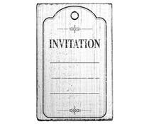 Colop Invitation Frame Vintage Rubber Stamps (V01018)