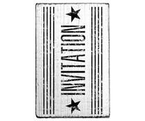 Colop Invitation Stars Vintage Rubber Stamps (V01016)